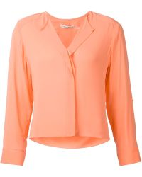 Alice + Olivia Collarless Shirt - Lyst