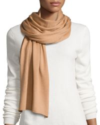 Michael Kors Wool-blend Solid Knit Scarf - Lyst