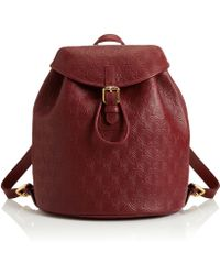 Liberty - Oxblood Iphis Leather Kingly Backpack - Lyst