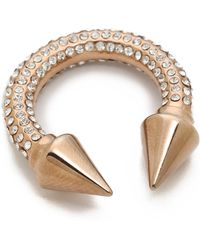Vita Fede Titan All Over Crystal Ring Rose Gold - Lyst