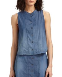 Theyskens' Theory Wanfor Bini Ombre Chambray Shirt - Lyst