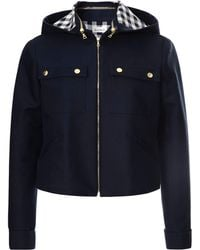 Suno Hooded Cottoncanvas Jacket - Lyst