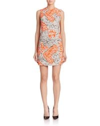 Versace Abstract-Print Shift orange - Lyst