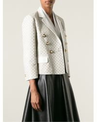 Versace Braided Perforated Jacket - Lyst