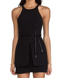 Bec&bridge J Pop Mini Dress in Black - Lyst