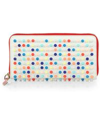 Christian Louboutin Studded Leather Continental Wallet - Lyst