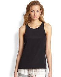 Tibi Open Back Caped Silk Top - Lyst