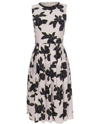 Paul Smith Pink Miami Beach Floral Silk Dress - Lyst