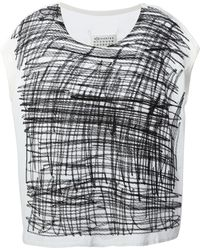 Maison Martin Margiela Embroidered Blouse - Lyst