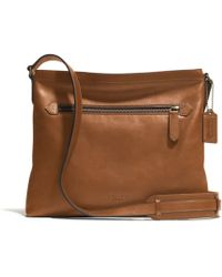 Coach Bleecker Zip Top Crossbody in Leather - Lyst