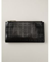 Burberry Black Embossed Wallet - Lyst