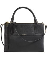 COACH - The Borough Black Leather Cross-Body Bag - Lyst