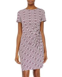 Diane von Furstenberg Zoe Ruched-Waist Jersey Dress - Lyst