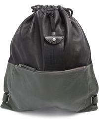Diesel Twice Pack Black Two-Tone Leather Backpack black - Lyst
