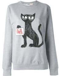 Clements Ribeiro - Cat Print Logo Sweatshirt - Lyst