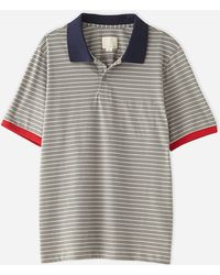Band Of Outsiders Simple Stripe Trap Pocket Polo - Lyst