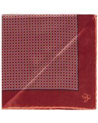 Canali Silk Satin Pocket Square - Lyst