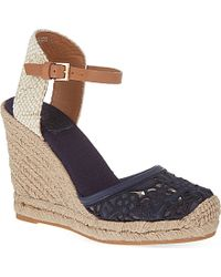 Tory Burch Lucia Wedge Sandals - For Women - Lyst