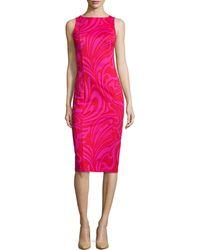 a968b8d05cd MICHAEL Michael Kors - Cynthia Paisley-print Sheath Dress - Lyst