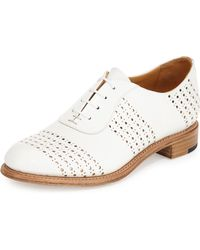 The Office Of Angela Scott - Mr. Smith Perforated Leather Oxford - Lyst