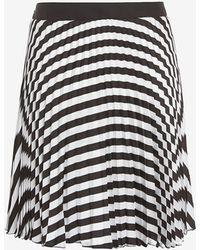 Etienne Deroeux | Striped Plisse Mini Skirt | Lyst