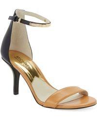 MICHAEL Michael Kors Kristen Colorblocked Leather Sandals - Lyst