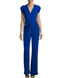 Diane von Furstenberg - Purdy Short-sleeve Belted Jumpsuit - Lyst