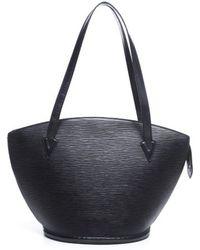 Louis Vuitton Pre-owned Black Epi Leather Saint Jacques Bag - Lyst
