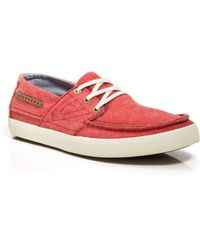 Tretorn Otto Chambray Boat Shoe Sneakers - Lyst