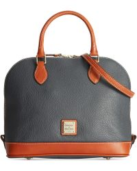Dooney & Bourke Pebble Zip Zip Satchel - Lyst