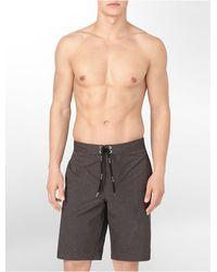 Calvin Klein Charcoal Mãlange Logo Boardshort - Lyst