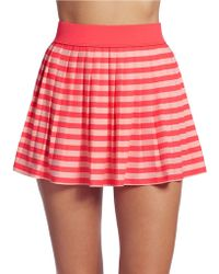 Kate Spade Striped Mini Skirt - Lyst