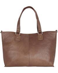 Oasis - Leather Shopper Bag - Lyst