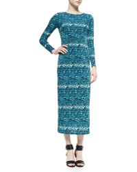 Melissa Masse Python-print Jersey Long Dress - Lyst