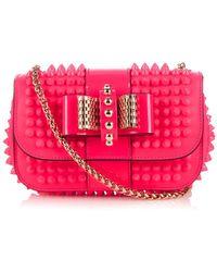 Christian Louboutin Sweety Charity Mini Leather Shoulder Bag - Lyst