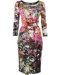 Pied a Terre   Printed Jersey Tube Dress   Lyst