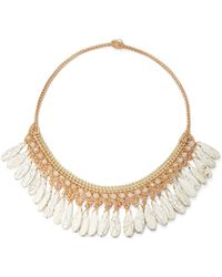 Panacea - Woven Stone Collar Necklace - Lyst