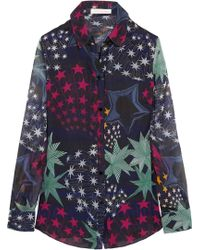Matthew Williamson Printed Silkchiffon Shirt - Lyst