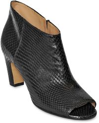 Maison Margiela 70Mm Snake Embossed Leather Ankle Boots - Lyst