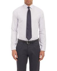 Armani Tattersall Plaid Dress Shirt - Lyst