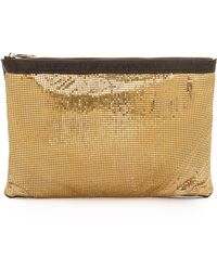Deux Lux Anais Sequin Zip Wallet In Gold Taupe Lyst