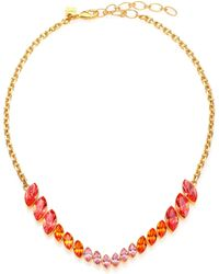Ca & Lou Evelyn Crystal Necklace - Lyst