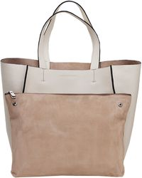 Brunello Cucinelli Double Handle Leather Tote - Lyst