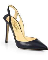 Alejandro Ingelmo Frederica Leather Patent Leather Slingback Pumps - Lyst
