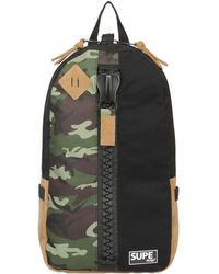 Supe Design Camo Printed Techno Canvas Backpack - Lyst