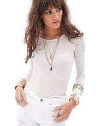 Forever 21 Heathered Longsleeve Top - Lyst