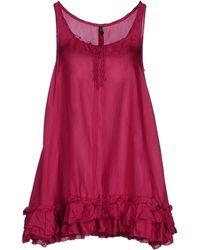 High Short Dress - Lyst
