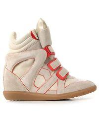 Etoile Isabel Marant 'Wila' Suede Wedge Sneakers - Lyst