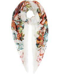 Etro Floral Paisley Pashmina - Lyst