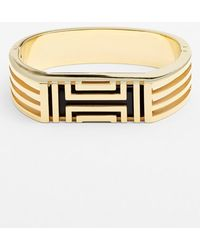 Tory Burch For Fitbit Hinged Bracelet - Shiny Gold - Lyst